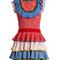 Tiered-ruffle knitted mini dress