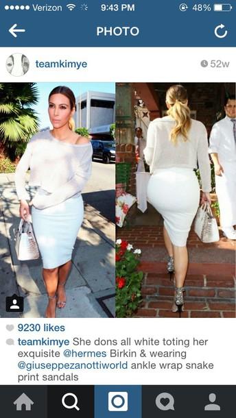 skirt kim kardashian