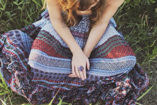 skirt boho hippie