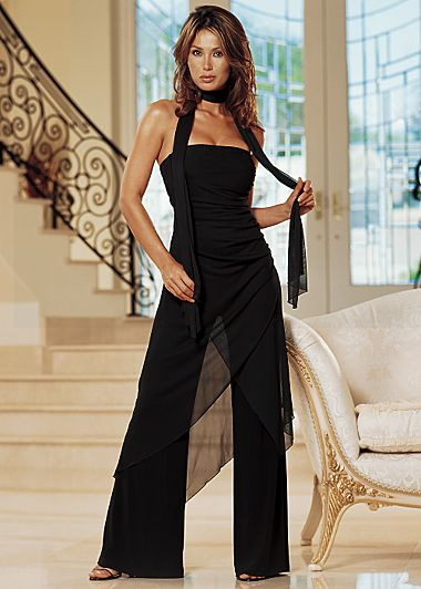 Black Bandeau Jumpsuit from VENUS
