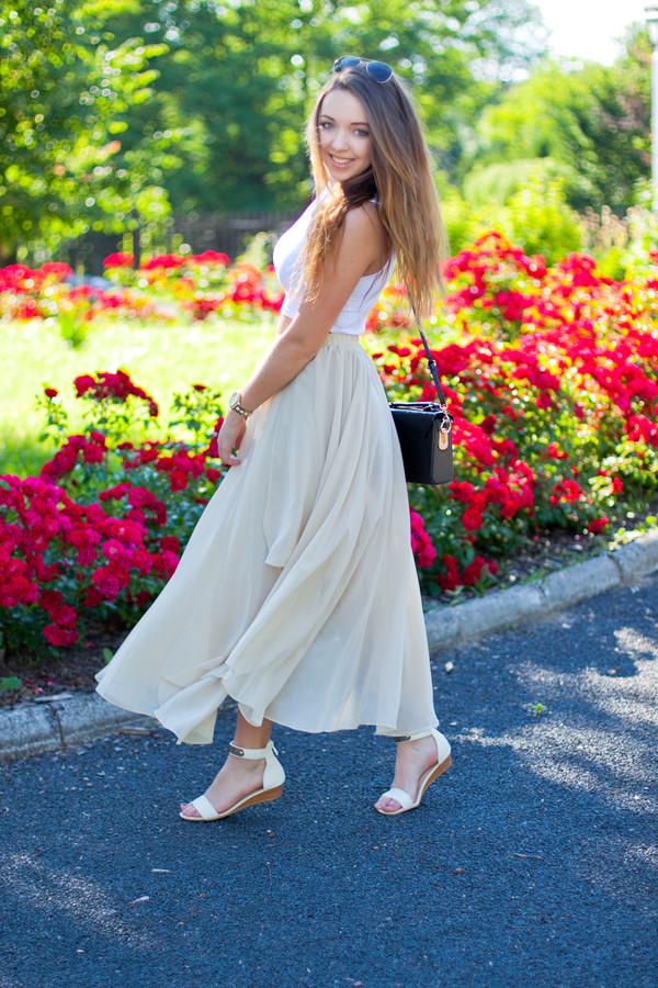 kolorowa dusza top skirt bag jewels sunglasses shoes