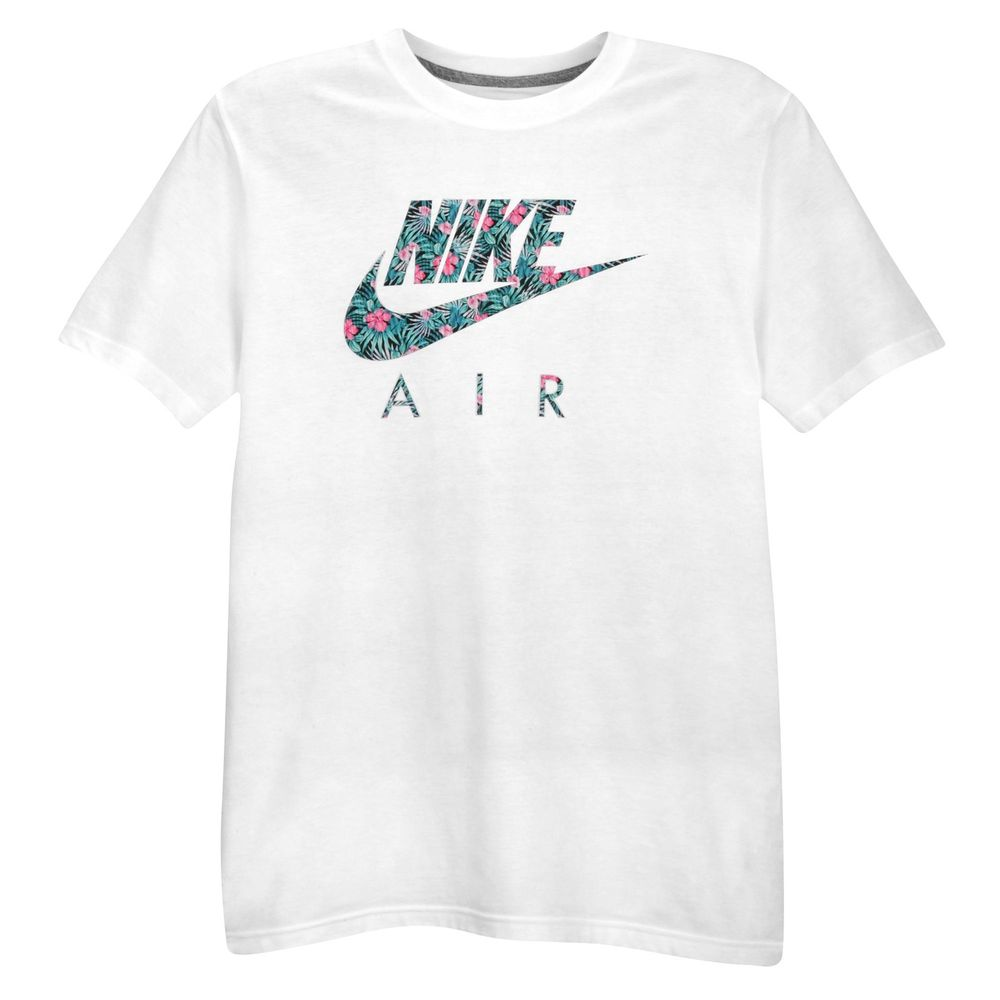Nike Floral Air Logo T Shirt Sz 2xl Xx Large White Premium Ice Max