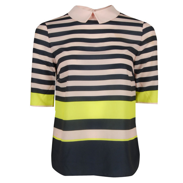 top womens navy candy striped shirt top ted baker