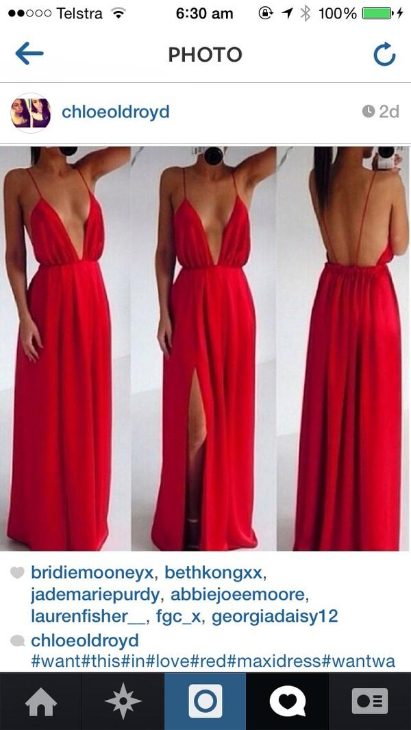 red dress formal dress maxi dress