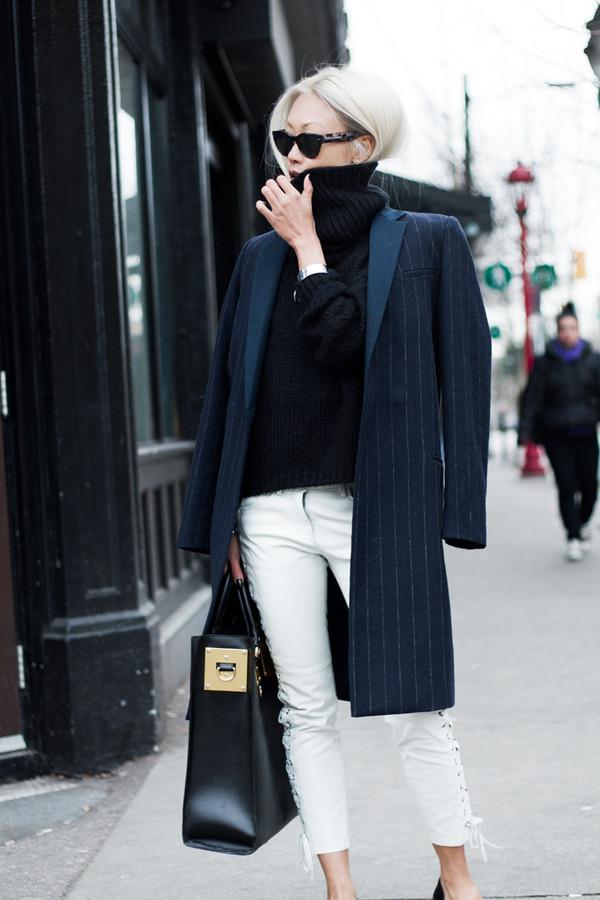 the haute pursuit coat sweater pants bag jewels