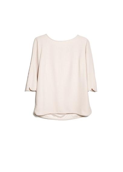 side slit crepe blouse