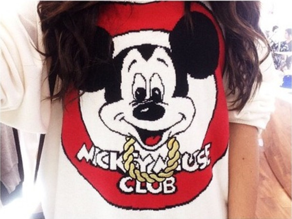 sweater madison beer mickey mouse