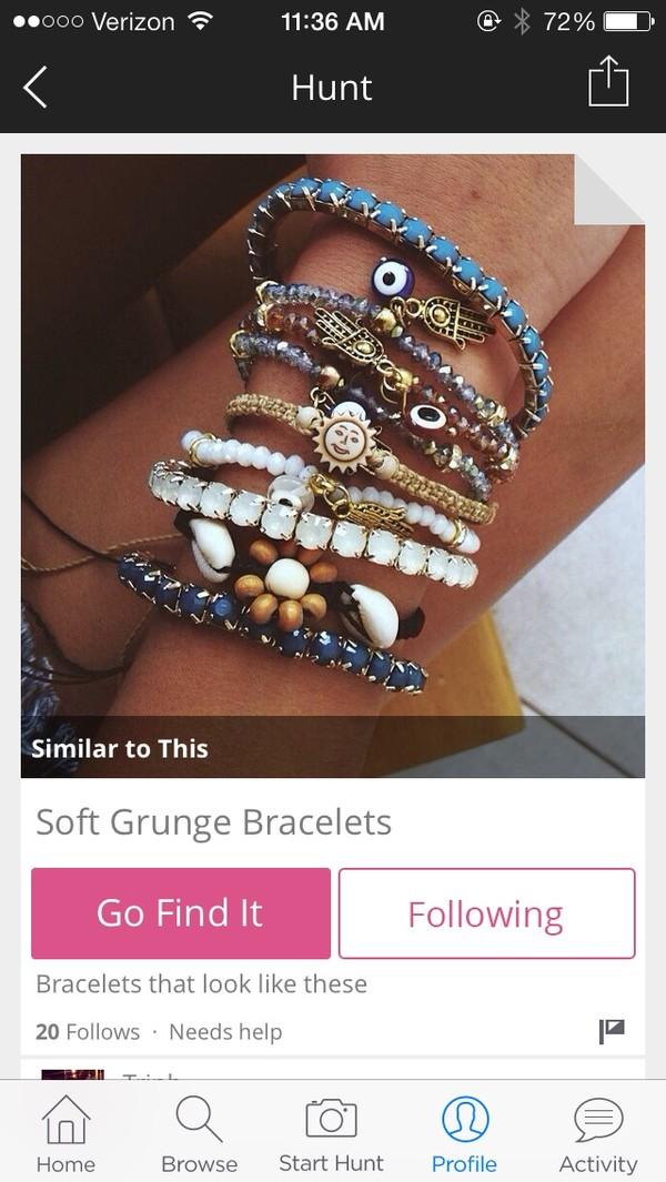 jewels blue hamsa evil eye sun beaded bracelets