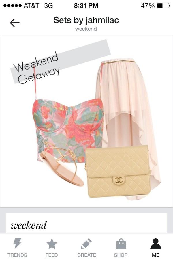 skirt colorful high low skirt