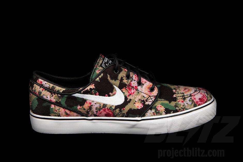 Nike Zoom Stefan Janoski SB Floral Digi Camo Black Size 10 Print | eBay