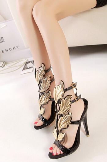 Gold Leaf Shoes - Juicy Wardrobe