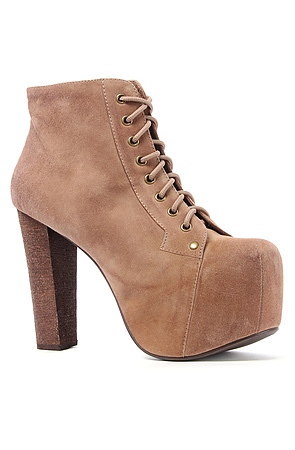 Jeffrey Campbell Heels Suede Lace-Up In Taupe -  Karmaloop.com