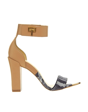 Ted Baker | Ted Baker Aaleyah Leather Single Sole Heeled Sandals at ASOS