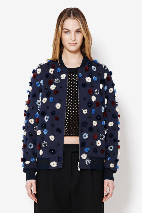 jacket lookbook fashion phillip lim bomber jacket embellished jacket floral jacket floral texture