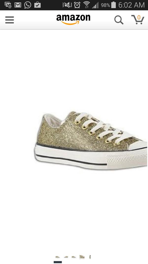 shoes gold converse