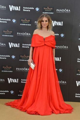 dress model blogger instagram long dress red sleveless pandora