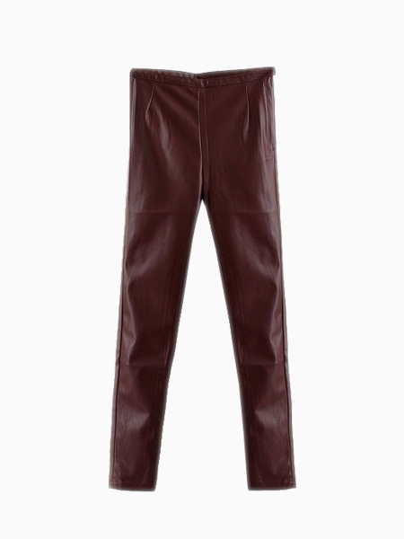 Vintage High Waisted Pants In Leather | Choies