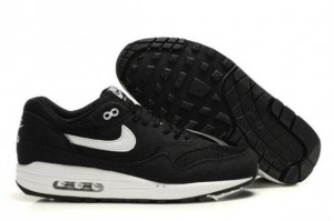 Shop Nike Air Max 1 Men's Running Shoe Black/White UK Online Shop