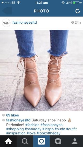 shoes wrap ankles findplease nude high heels nude heels