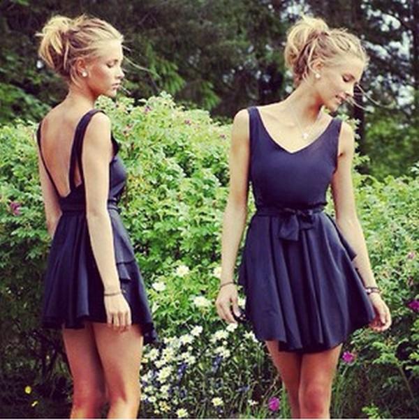 dress blue black dress open back dresses black v neck little black dress v-back black dress