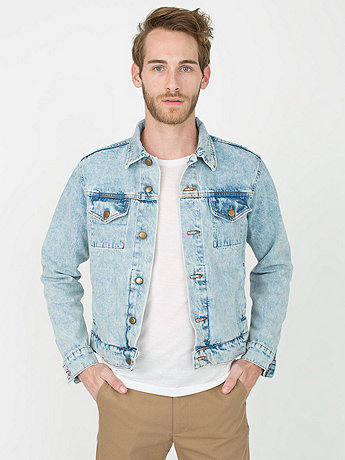 Acid Wash Denim Jacket   American Apparel