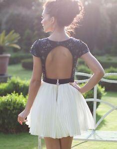 Lipsy V I P Pleated Skirt Built Up Prom Dress Size 8 Brand New | eBay