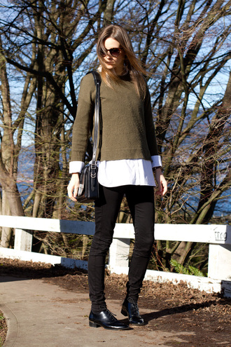 styling my life blogger sweater shoes knitted sweater white shirt black jeans