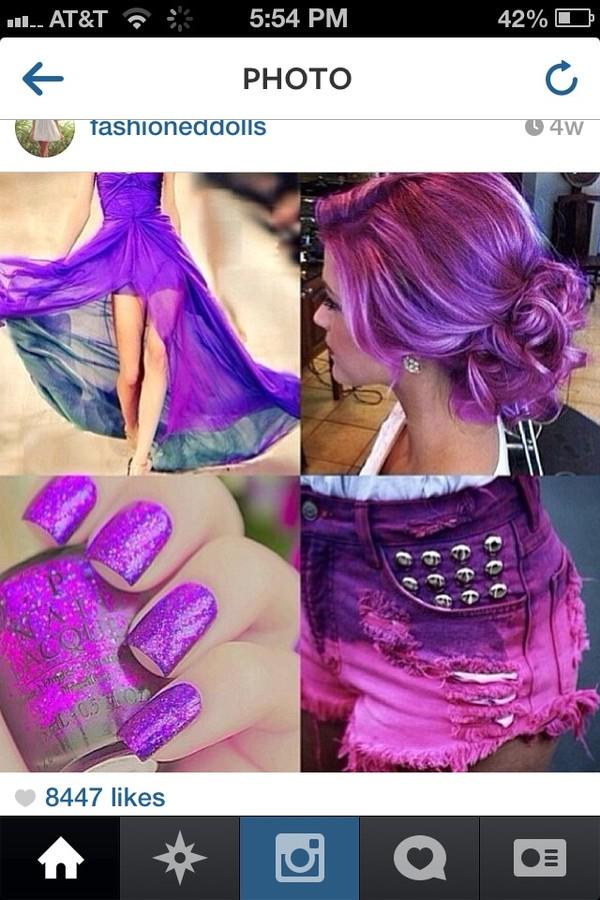 nail polish purple
