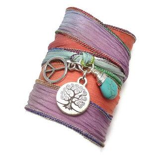 jewelry wrap bracelet silk ribbon bracelet wrap handmade
