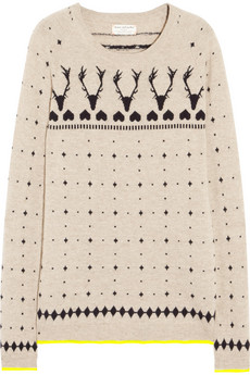 Chinti and Parker Reindeer intarsia cashmere sweater - 60% Off Now at THE OUTNET