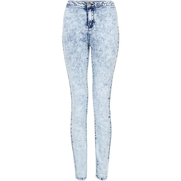 Light Blue Acid Wash Denim Disco Jeans - Polyvore