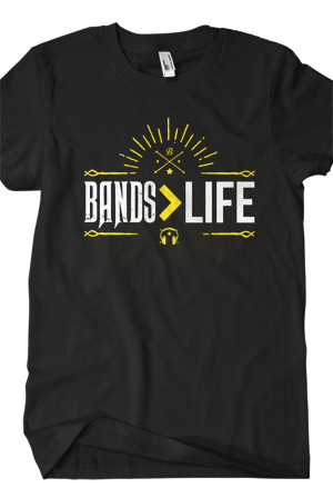 Bands Are Greater Than Life T-Shirt - Bryan Stars T-Shirts -  Online Store on District Lines