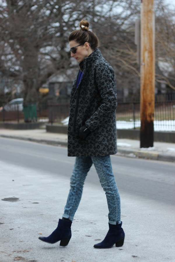 jess style rules jeans shoes coat sweater scarf shirt sunglasses