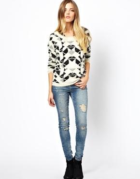 Noisy May | Noisy May Lucy Holey Skinny Jeans at ASOS