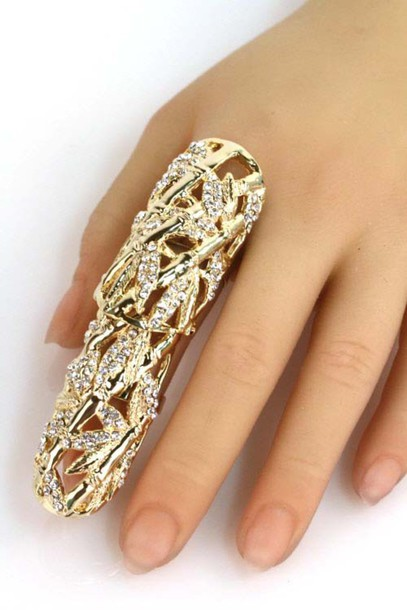 jewels ring cool armor ring punk goth jewelry ring jewelry
