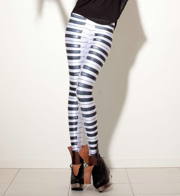 HOT Sexy Fashion 2013 Pirate Leggins Galaxy Pants Digital Printing PIANO KEYS LEGGINGS For Women-in Leggings from Apparel & Accessories on Aliexpress.com