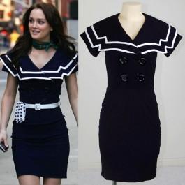 Pinup Clothing Online | Mad Men Dress | Pinup Dresses | Vintage Clothing | Retro Clothing | Rockabilly Dress | Celebrity Dress Leighton Meester Gossip girl Sailor dress