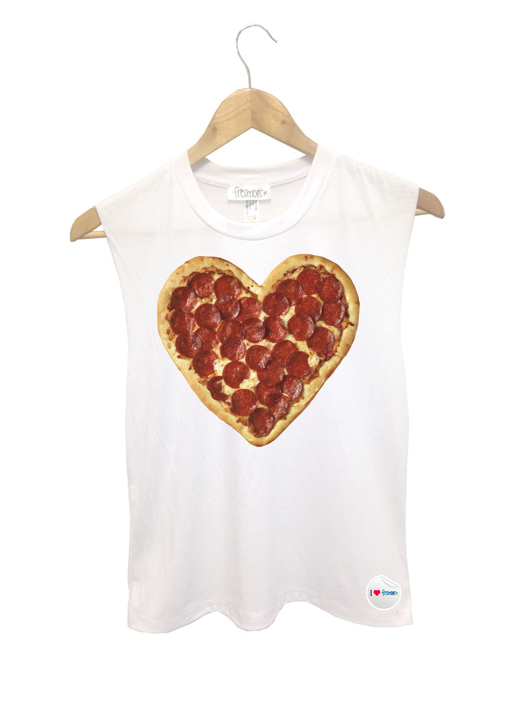 I Heart Pizza Muscle Tank - Fresh-tops.com