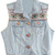 ROMWE | Buttoned Ethnic Embroidered Light-blue Vest, The Latest Street Fashion