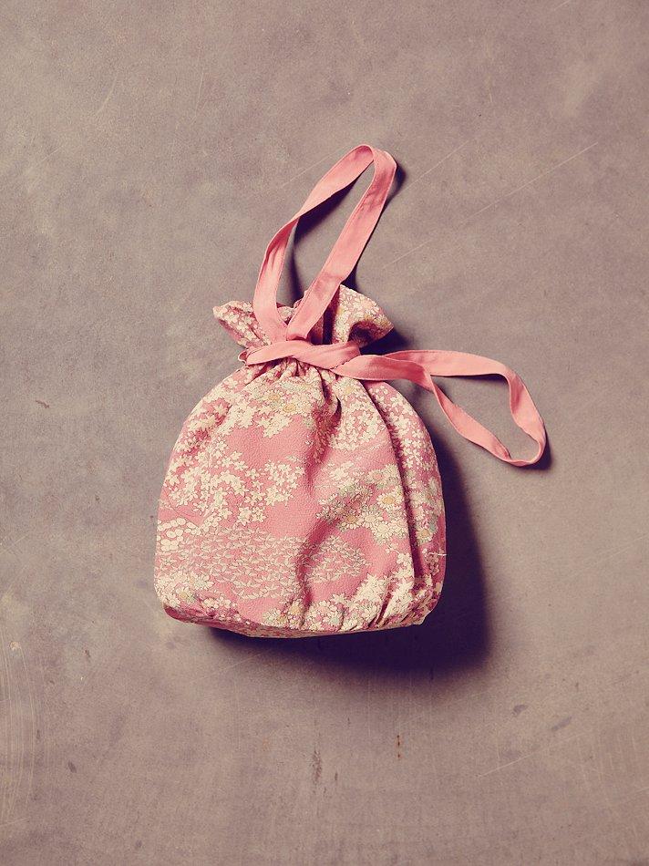 free people womens vintage lavender floral kimono bag