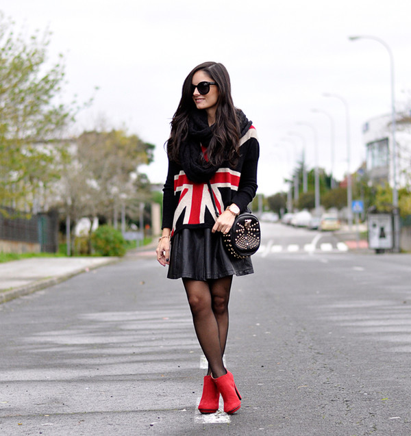 petit and sweet couture sweater skirt shoes bag