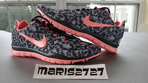 Women New Nike Free TR Fit 3 Print Leopard Cheetah Atomic Pink Run 555159 007 | eBay