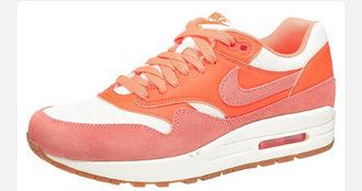 shoes nike nike air force air max orange rose pink summer ?t?