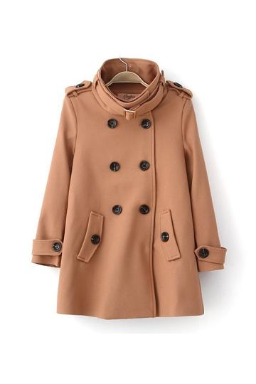 British Style Epaulet and Collar Buckle Pea Coat [FEBK0384]- US$64.99 - PersunMall.com