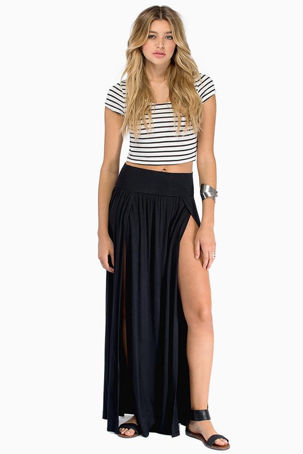 Slit Personality Skirt - Tobi