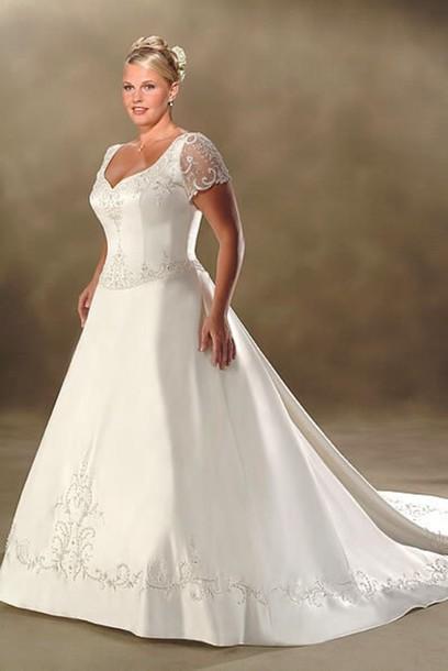 dress wedding dress plus size dress white