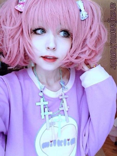 sweater lolita cross japanese fashion