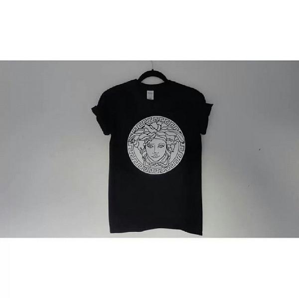 t-shirt pretty beautiful t-shirt shirt print hipster fashion blogger medusa versace