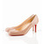 Nude Christian Louboutin Simple 70mm Patent Leather Pumps Red Sole Shoes