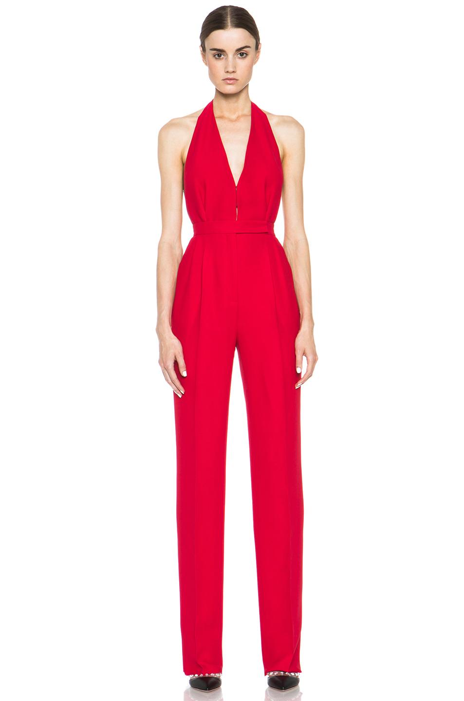 Valentino|Halter Jumpsuit in Red